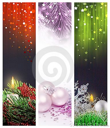 Set Christmas banners web