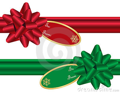 Set of Christmas Bows