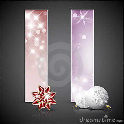 Set of  christmas cards or banners