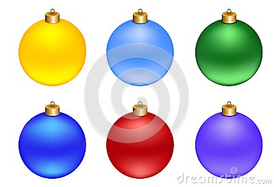 Set of Christmas decorations balls