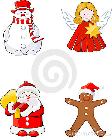 Set of Christmas figures