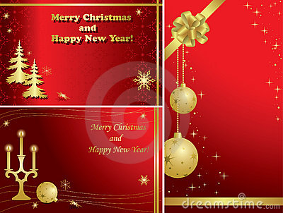 Set of christmas frames with decorations - eps