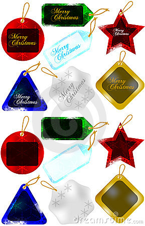 Set of Christmas Gift Tags / Sale Tags