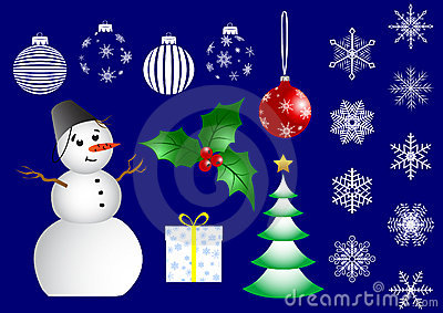 Set of christmas icons. vector.