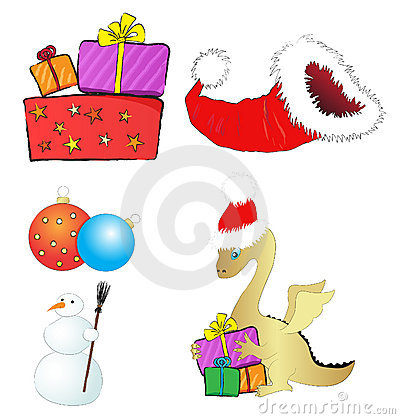 Set of Christmas illustrations