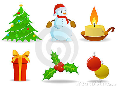 Set of  christmas images.