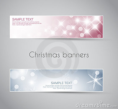 Set of  christmas / New Year banners