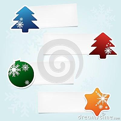 Set of christmas stickies