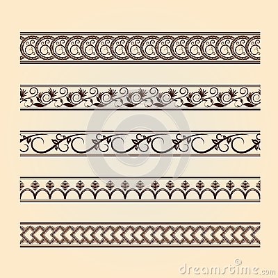 Set of classic floral lines (vintage collection).
