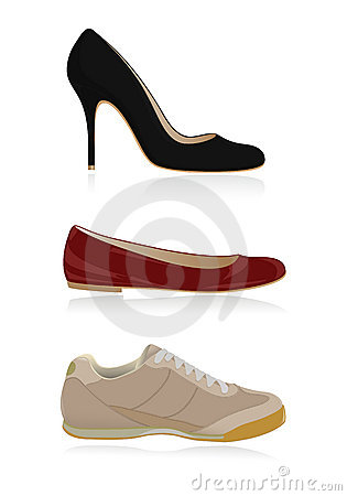 Set of classical women shoes
