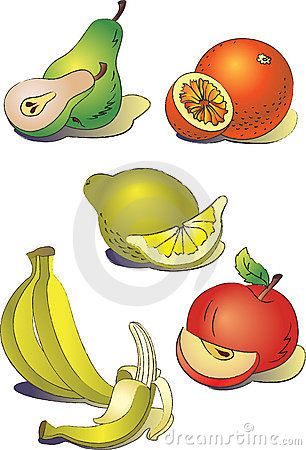 A set of clipart  fruit