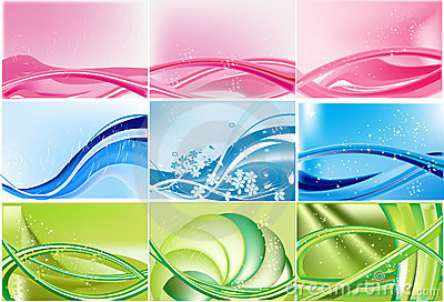 Set of color abstract backgrounds