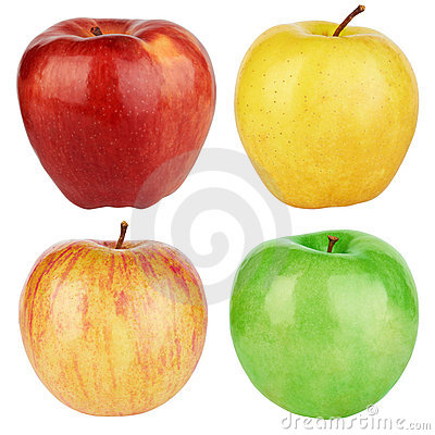 Set of color apples