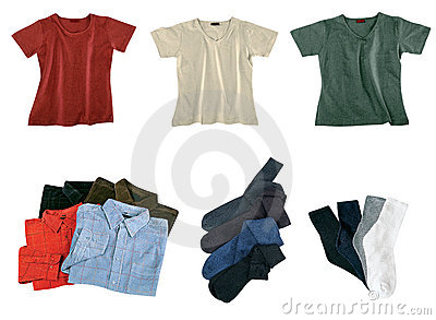 Set of color clothes