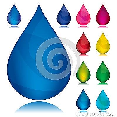 Set of color drop