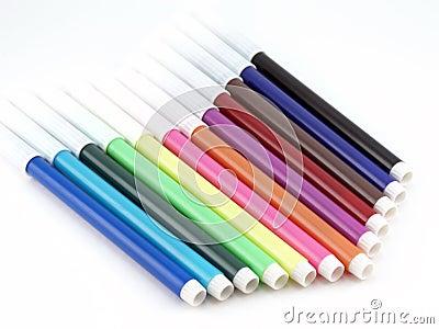 Set of color felt-tip pens