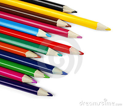 Set of color pencil