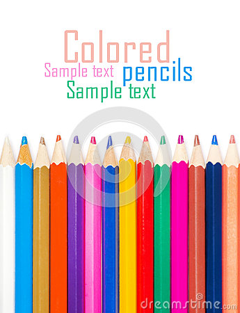 Set of color pencils for creativity