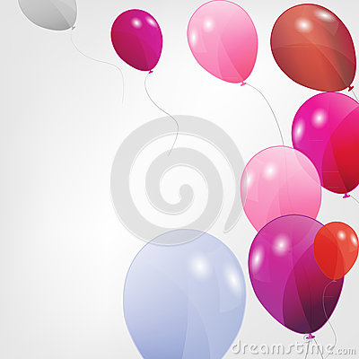 Set of colored balloons, vector illustration. EPS