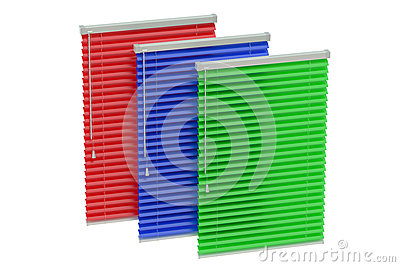 Set of colored blinds Stock Photo