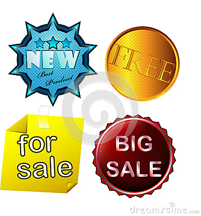 Set of colored stickers sale