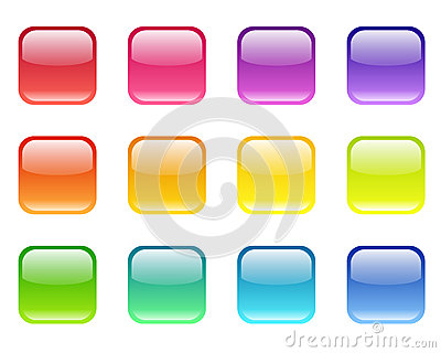 Set of colored web icons.