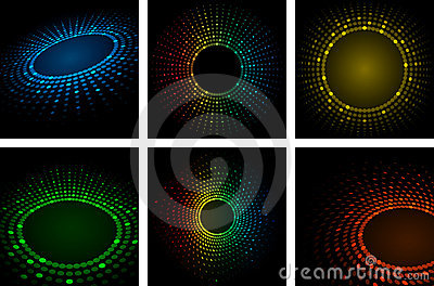 Set of Colorful Abstract Background Vector