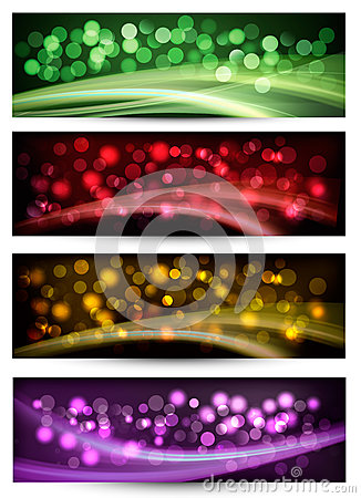 Set of colorful abstract business banners.