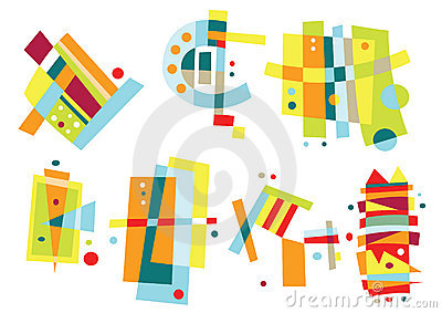 Set of Colorful Abstract Elements
