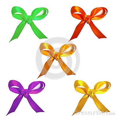 Set of colorful bows