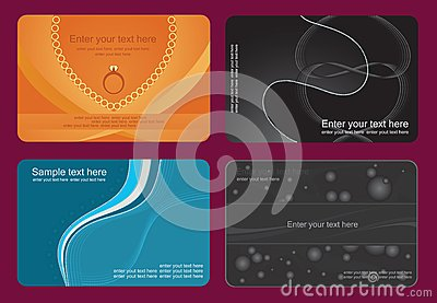 Set of colorful card