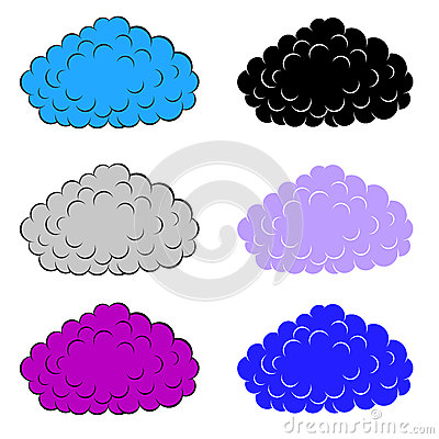 Set of  colorful clouds