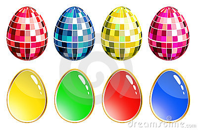 Set of colorful eggs