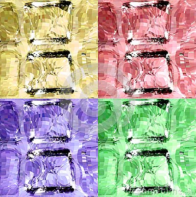 Set colorful ice cubes. Vector background