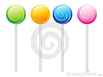 Set of colorful Lolipops