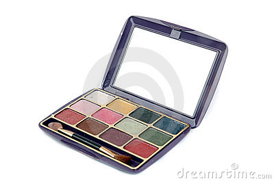 A set colorful of makeup pallet