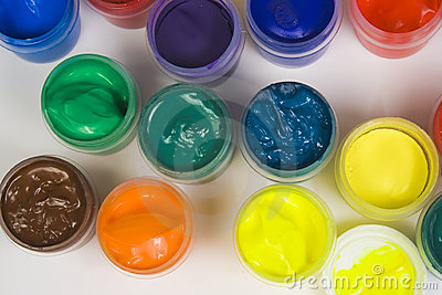 Set of colorful paints