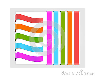 Set of colorful paper labels
