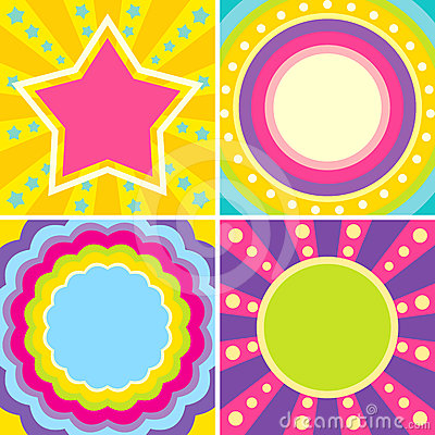 Set of colorful posters