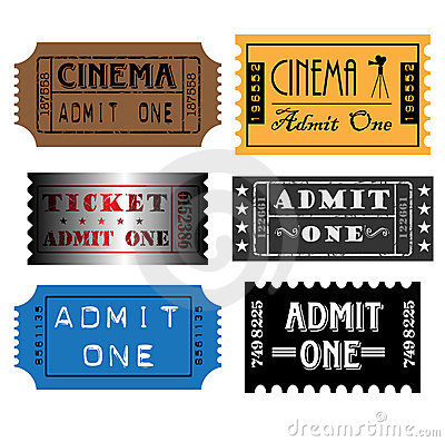 Set of colorful tickets