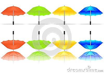 Set of colorful umbrellas, cdr vector