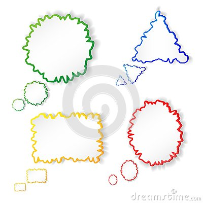 Set of colorful vector speech bubbles