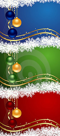 Set colors christmas backgrounds