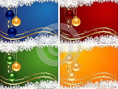 Set colors christmas backgrounds