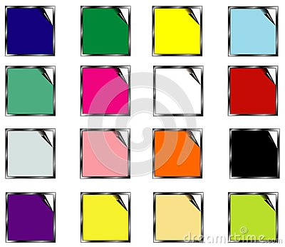 Set colors stickers - vector