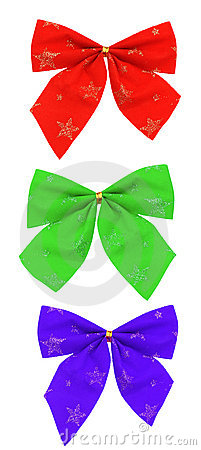 Set of colour bows
