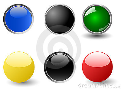Set of colourful glossy balls