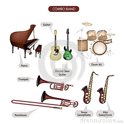 a set of combo brand music equipment stock photography image 31878112. Black Bedroom Furniture Sets. Home Design Ideas