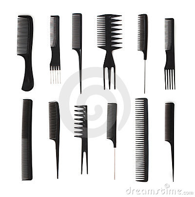 Stock Image: Set of combs, hairstyle accessories