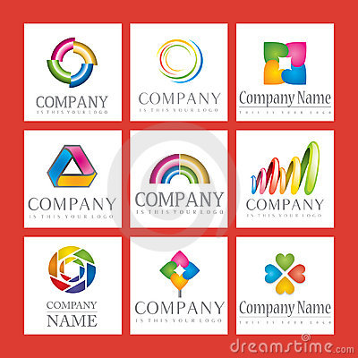 Set of company logos